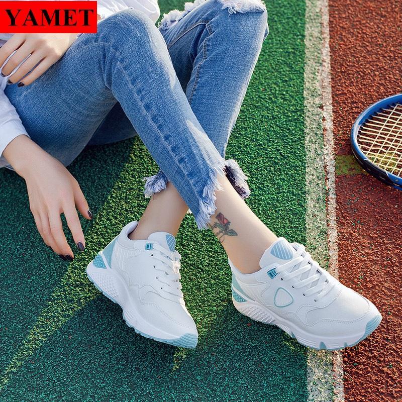 Hình ảnh Giày Sneaker Thể Thao Nữ Mẫu Mới Siêu Hot YAMET SNN35529WS Trắng Phối Xanh