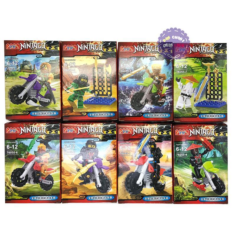 Hình ảnh Bộ 8 hộp đồ chơi lắp ráp Ninjago Moto bằng nhựa 76055