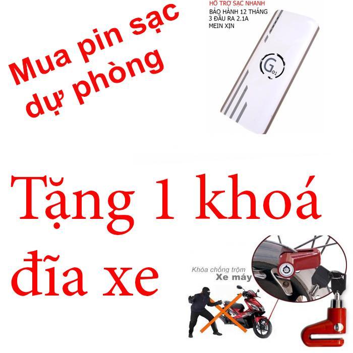 Hình ảnh Pin sạc dự phòng G01 Litinum 20000MAH (Trắng) -hổ trợ sạc nhanh + tặng 1 khoá đĩa xe rẻ lms