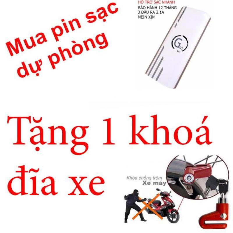 Bảng giá Pin sạc dự phòng G01 Litinum 20000MAH (Trắng) -hổ trợ sạc nhanh + tặng 1 khoá đĩa xe rẻ lms Phong Vũ