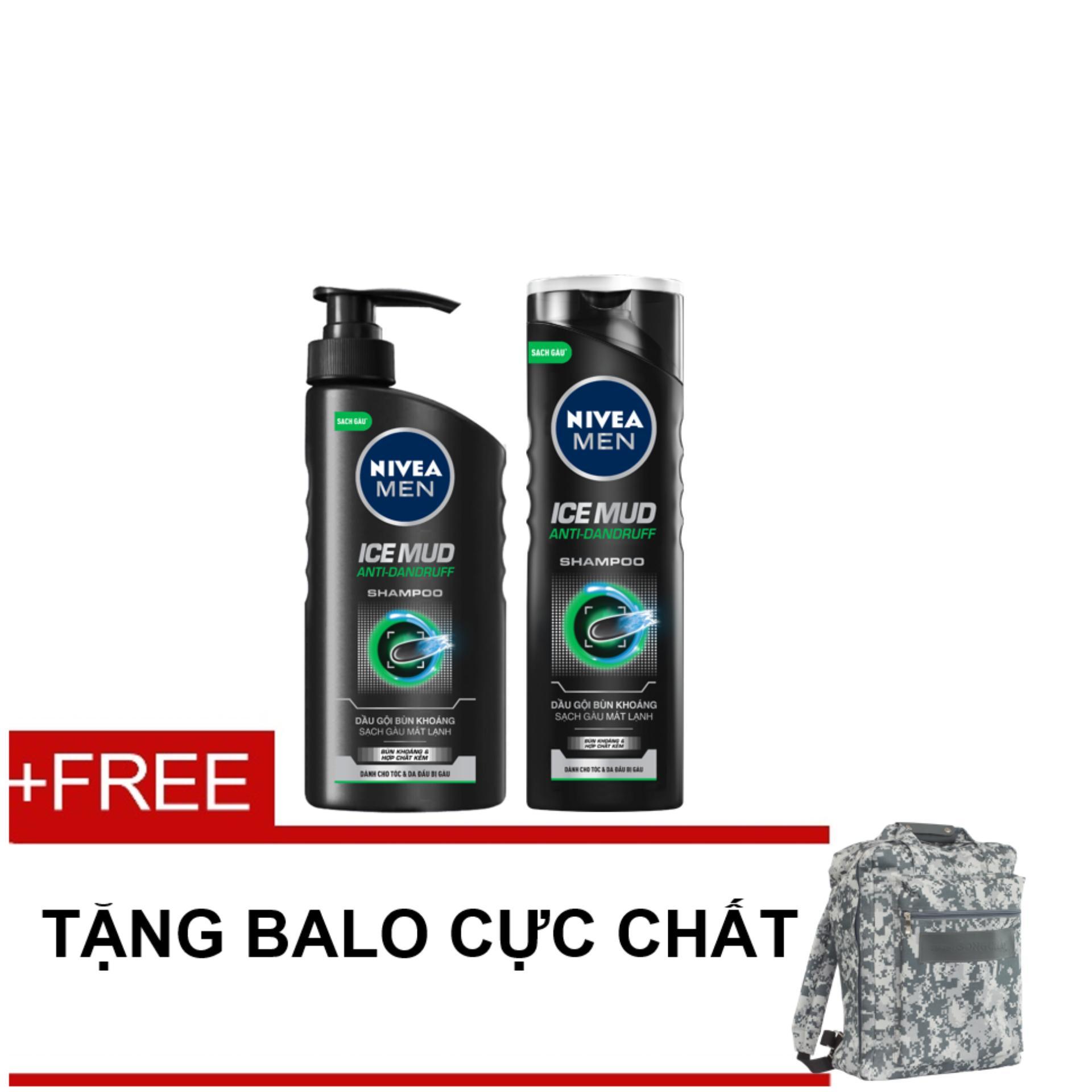 Mua Bộ Dầu Gội Bun Khoang Sạch Gau Mat Lạnh 530Ml Va 180Ml Tặng Balo Thể Thao Hồ Chí Minh