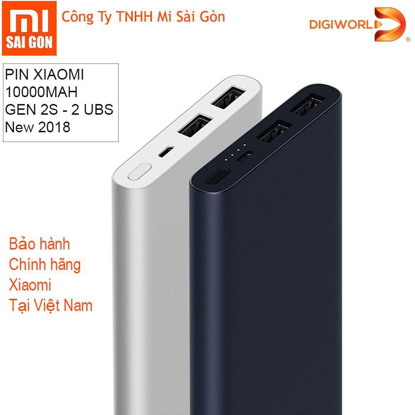 Ôn Tập Pin Sạc Dự Phong Xiaomi 10000 Mah Gen 2S 2018 Đen Digiworld Phan Phối Chinh Thức Hồ Chí Minh