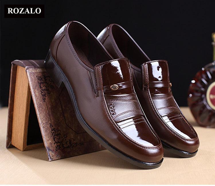 Giày tây nam đế mềm kiểu xỏ Rozalo RM8035