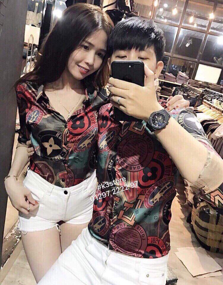 Bán Mua Ao Sơ Mi 3D Cặp Nam Nữ Sieu Hot Hinh Thật Mss13