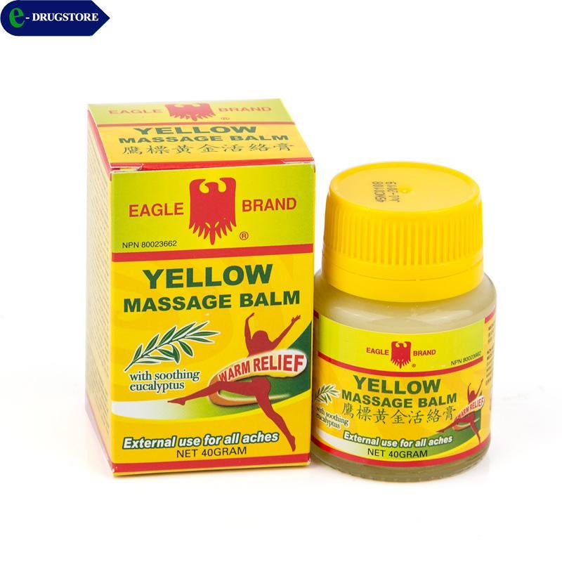 Hình ảnh Dầu cù là ó vàng Eagle Brand Yellow Balm). Lọ 40g
