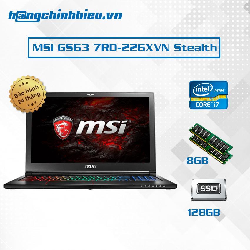 Hình ảnh Laptop MSI GS63 7RD-226XVN Stealth i7-7700HQ, VGA GTX 1050 2GB, 15.6' inch Full HD - Hãng phân phối chính thức