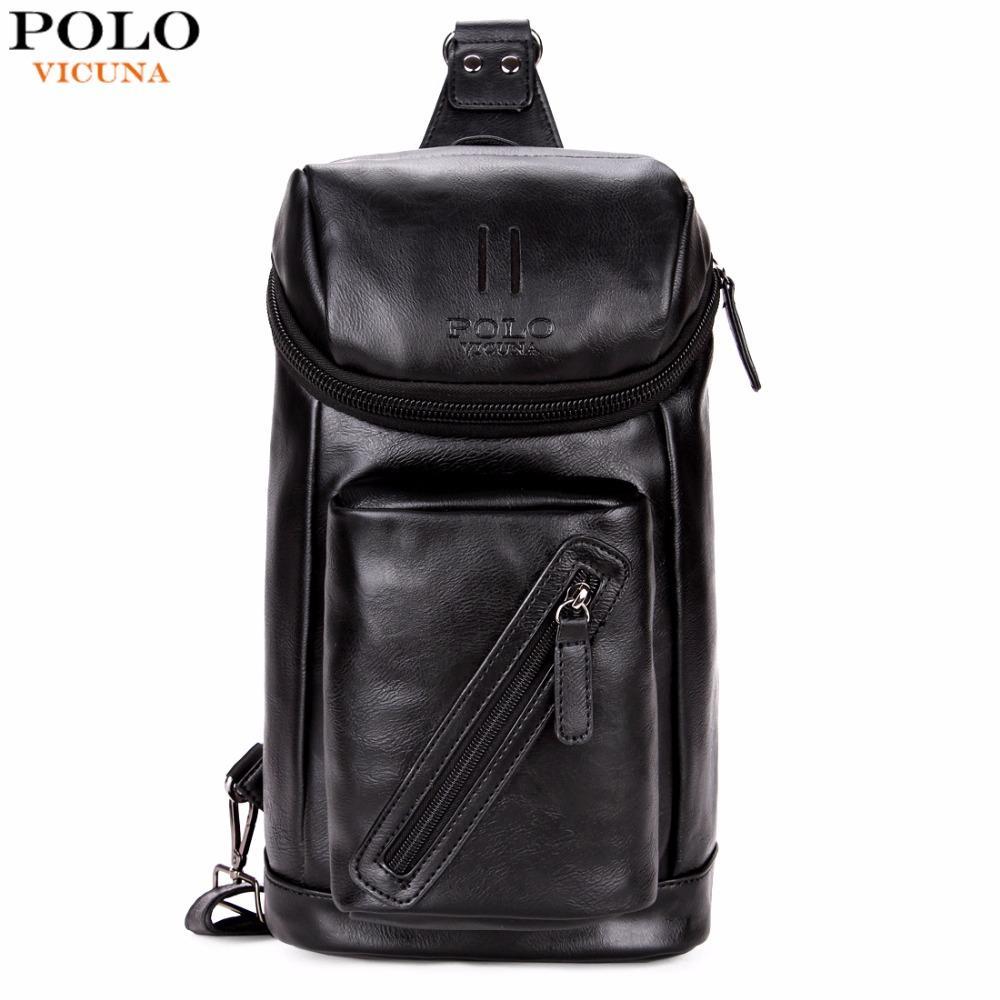 63b60c5a7285 VICUNA POLO Large Capacity Crossbody Sling Bag For Fashion Mens Shoulder Bag  Travel Chest Messenger Bags