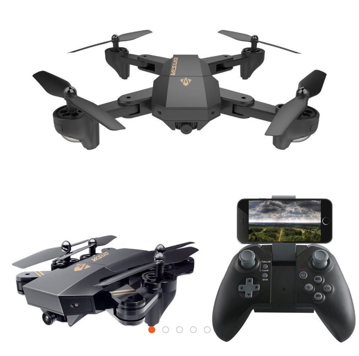 Mã Khuyến Mại Flycam Visuo Xs809W May Bay Canh Gấp Bỏ Tui Điều Khiển Từ Xa Camera Hd Truyền Hinh Trực Tiếp Tich Hợp Chế Độ Khong Đầu Đuoi Nhao Lộn 360 Độ Tự Động Quay Về Oem