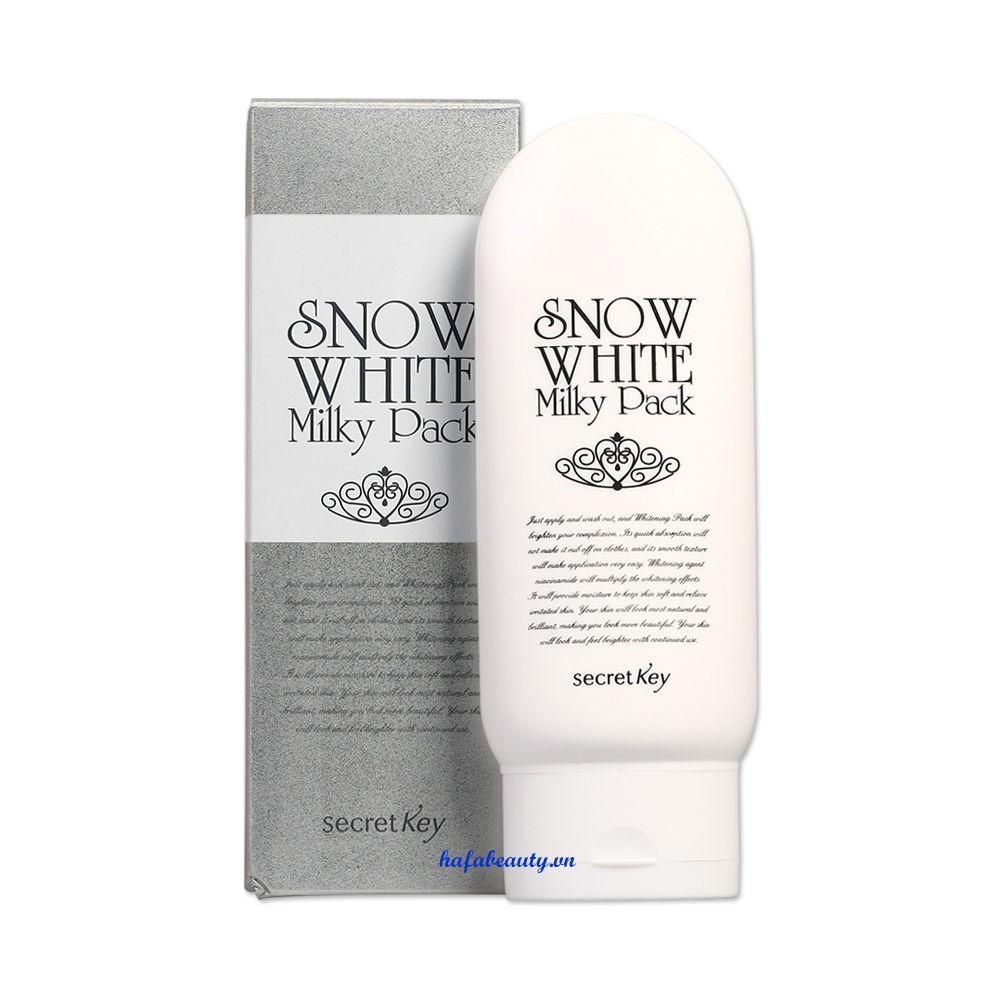 Giá Bán Kem Dưỡng Trắng Da Mặt Va Toan Than Secret Key Snow White Milky Pack 200G Mới