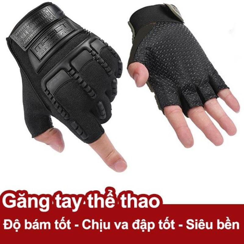 Găng tay thể thao cụt ngón gân cao su bảo vệ, độ bám bề mặt tốt Pro SM