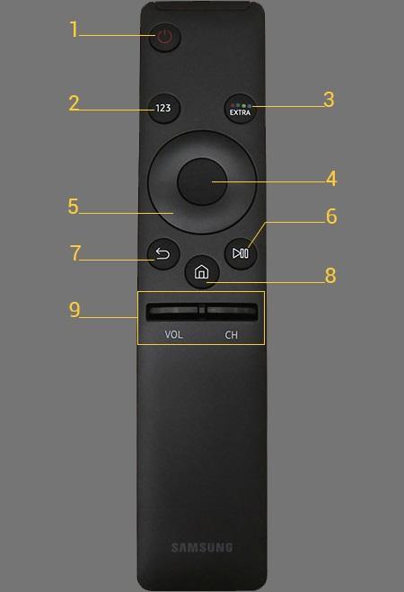 Hình ảnh ĐIỀU KHIỂN SMART TIVI SAMSUNG K5500, KU6000, KU6100, K6300