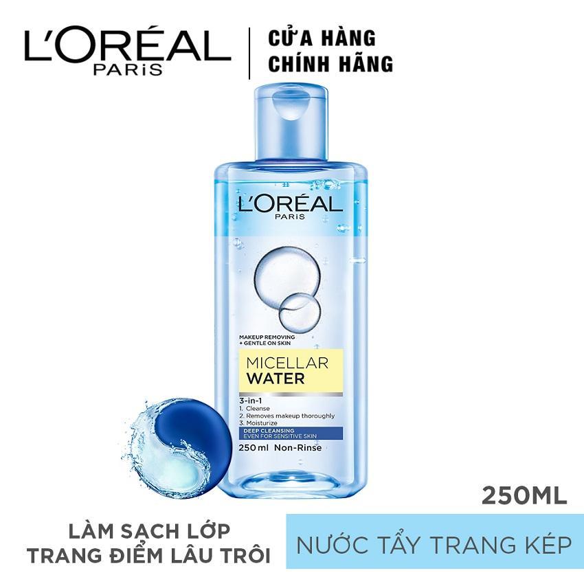 Ôn Tập Nước Tẩy Trang Đa Năng 3 In 1 L Oreal Paris Micellar Lam Sạch Sau 250Ml