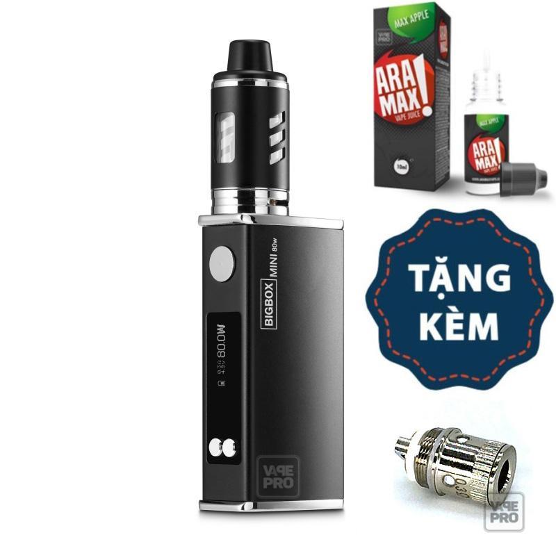 Thuốc lá điện tử Vape Siêu khói BIGBOX Mini 80W Kit tặng dầu Aramax và Coil