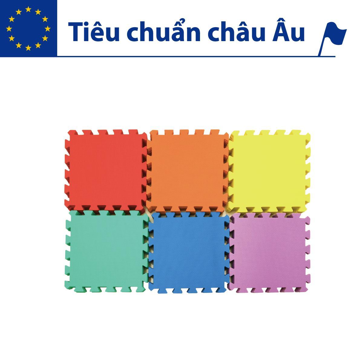 Hình ảnh Thảm xốp lót sàn cho bé - đơn màu (10 miếng, diện tích 1m2) Smile Puzzle