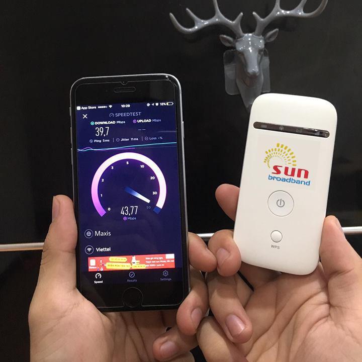 Hình ảnh Thiết bị phát Wifi 3G 4G Maxis ZTE MF65 TỐC ĐỘ KHỦNG MỚI RA LÒ