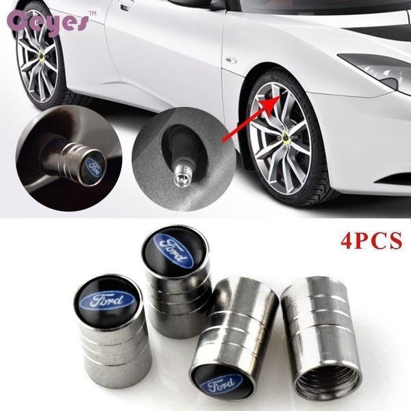 Hình ảnh thu nhỏ Car Wheel Tire Valves Tyre Stem Air Caps Cover case for Ford