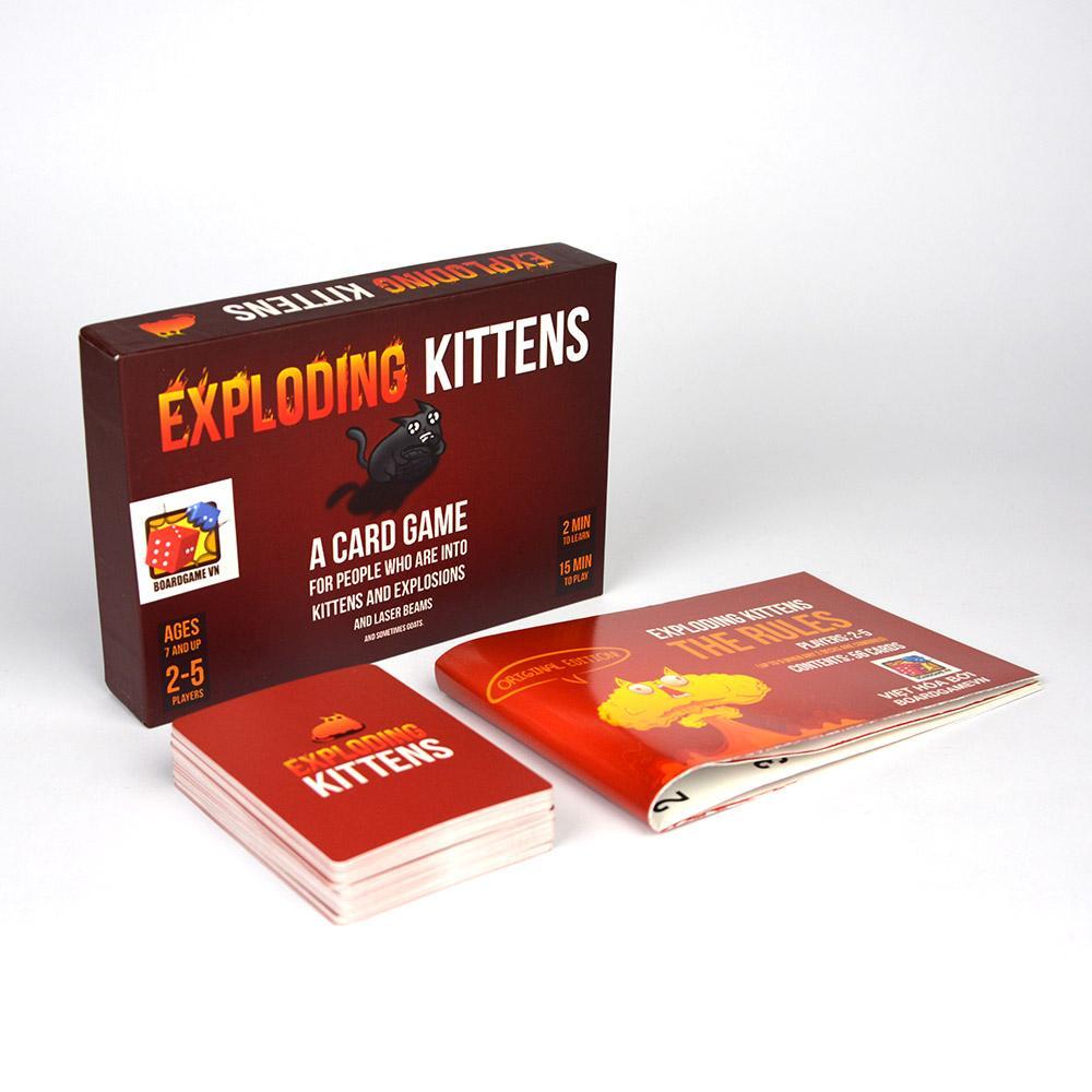 Hình ảnh Exploding Kittens - Mèo Nổ phiên bản 7+ màu đỏ cơ bản