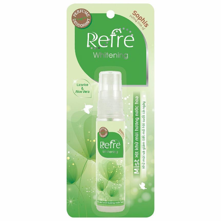 Hình ảnh Xịt khử mùi hương nước hoa Refre Whiterning Sophis (Hương tinh tế) 30ml