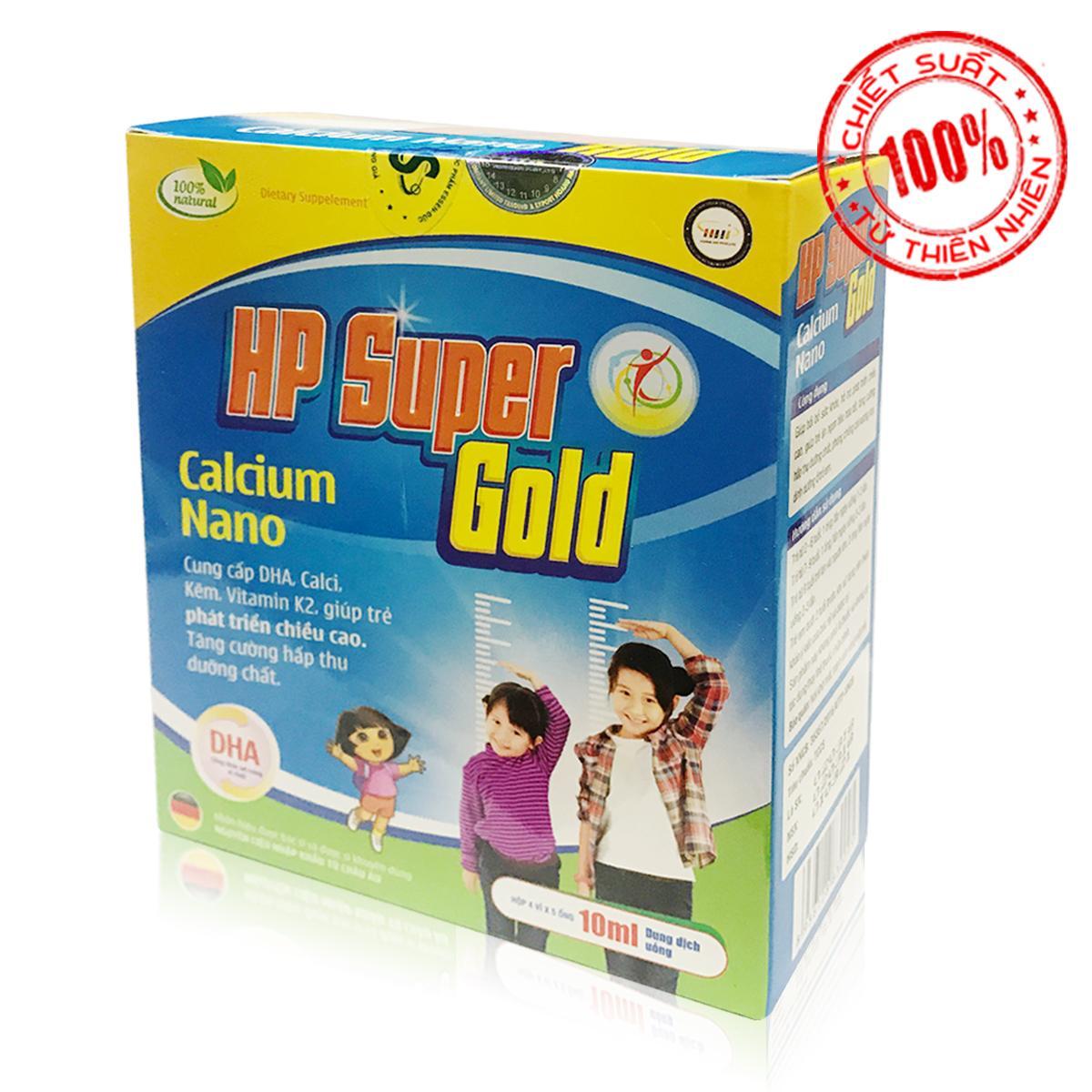 Thực phẩm chức năng tăng chiều cao trẻ nhỏ HP Super Gold - Calcium Nano (OEM)