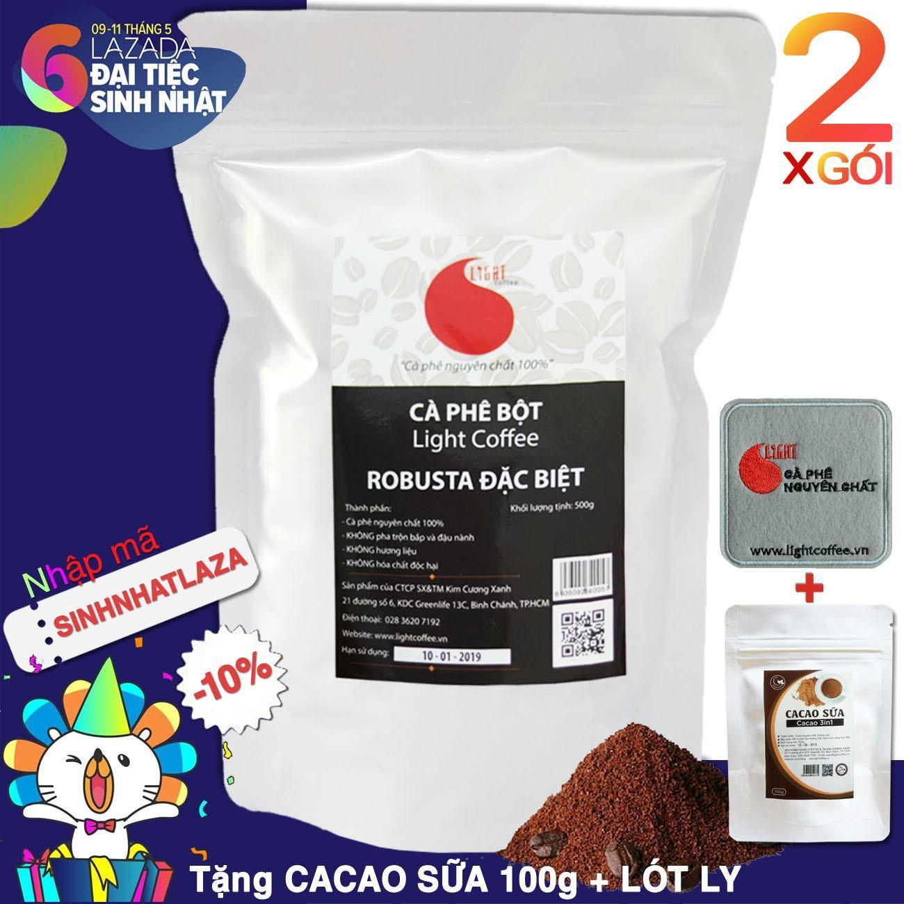 02 Goi 1Kg Ca Phe Robusta Nguyen Chất 100 Đặc Biệt Light Coffee Hồ Chí Minh Chiết Khấu