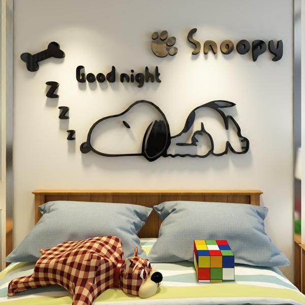 Decorative 3D Snoopy Wall Decals