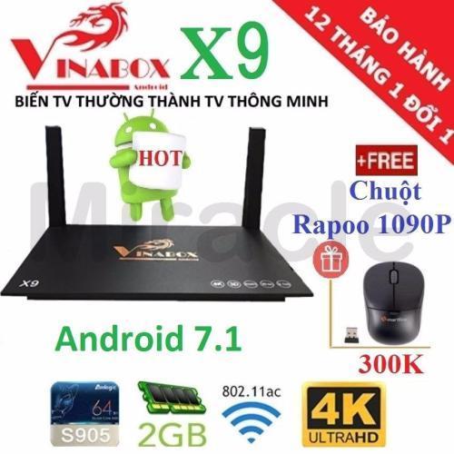 Hình ảnh Android Tivi Box VINABOX X9 (New 2018, Android 7.1) + Tặng Chuột FORTER
