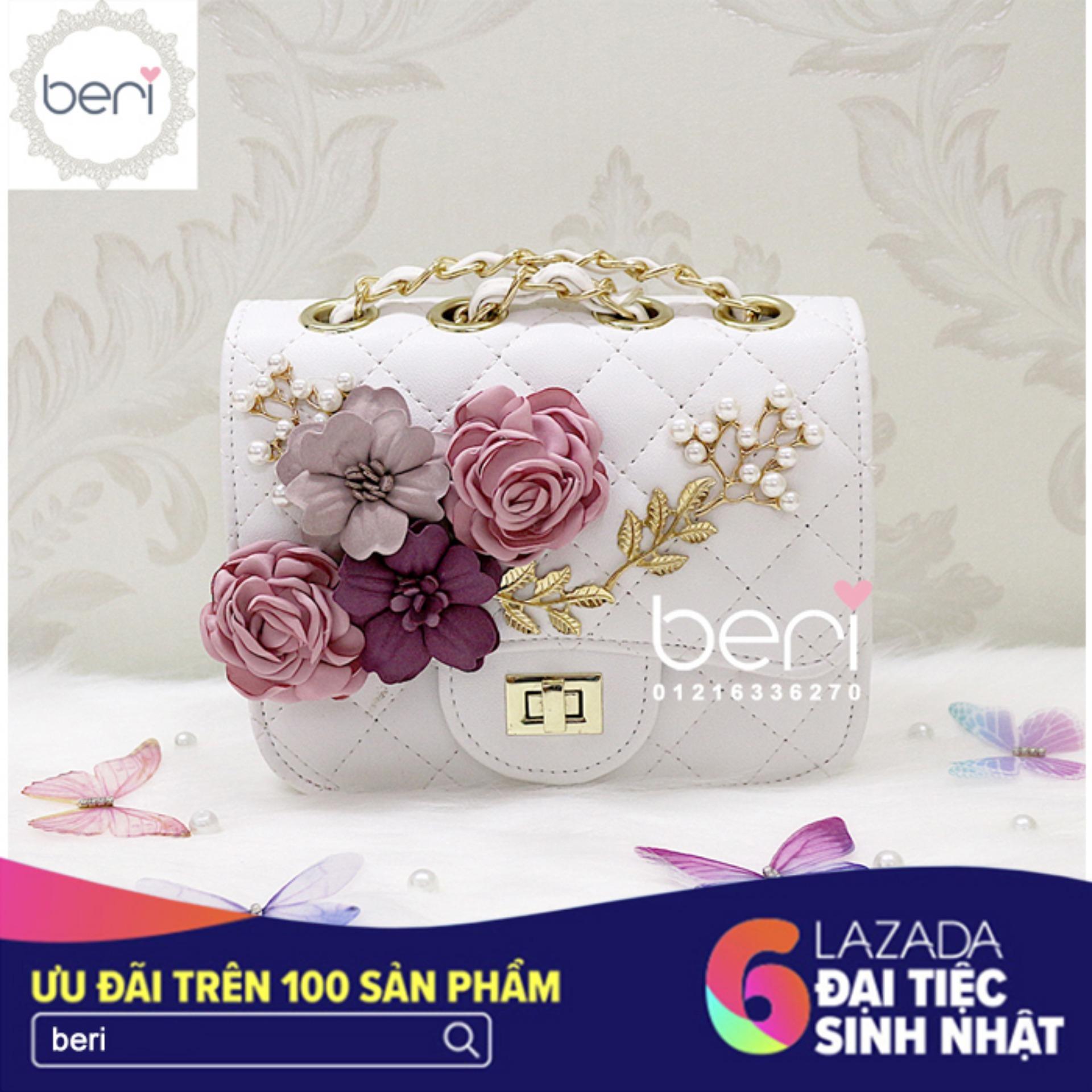 Bán Tui Da Đinh Hoa Vải Beri Trắng Tui032 Rẻ Trong Hồ Chí Minh