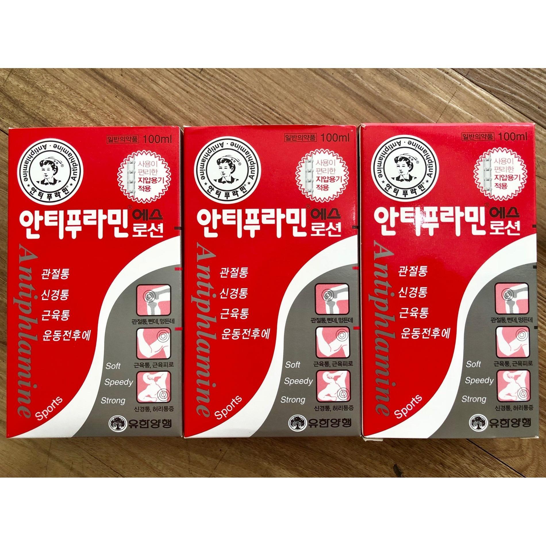 Combo 3 chai dầu nóng Hàn Quốc 100ml (có con lăn)