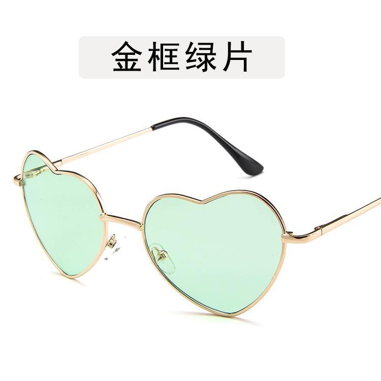 5c236a761f06f Fashion Ocean Sunglasses Women Transparent Love Heart Metal Sunglasses  Heart Sunglasses Vintage Optical Storm Glitter Blue