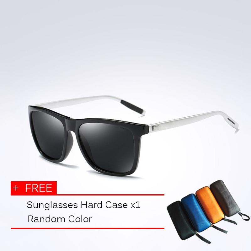 9f98cf0573 Classic Polarized Sunglasses Men Driving Square Black Frame Eyewear Male Sun  Glasses For Men Wome Oculos