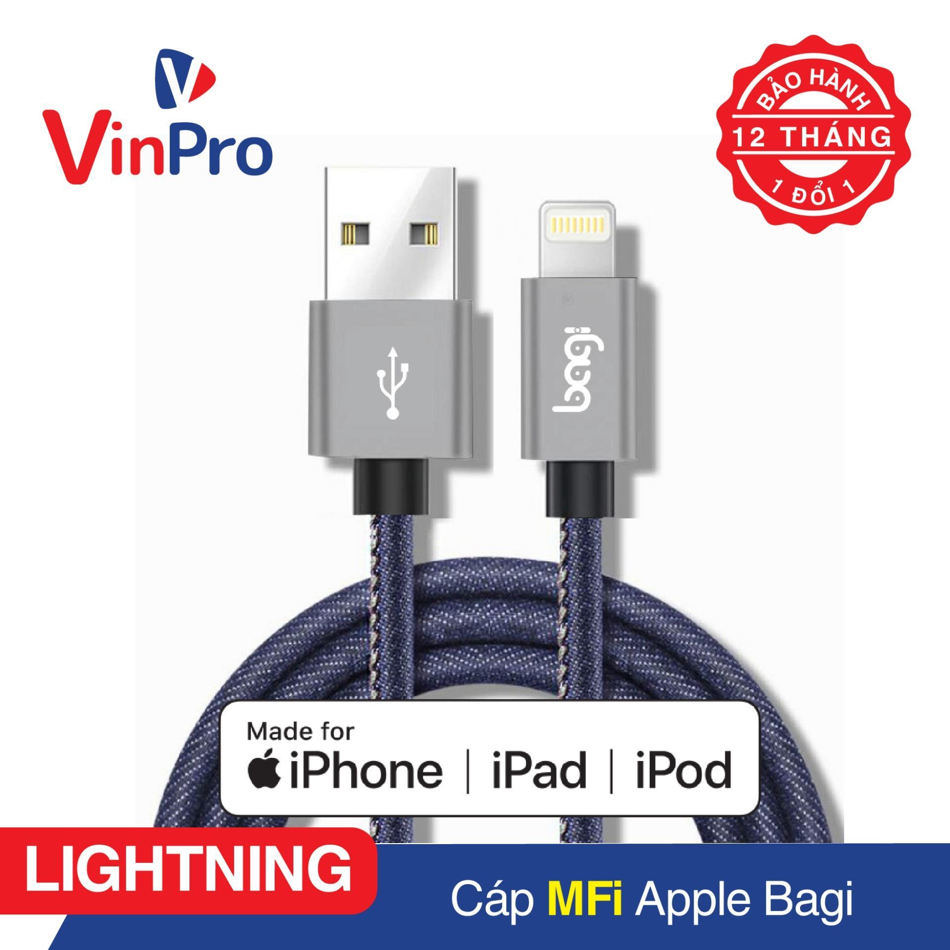 Giá Bán Cap Sạc Lightning Bagi Đạt Chuẩn Mfi Apple Dung Cho Iphone 5 5S 6 6S 6Plus 7 7Plus 8 8Plus Iphone X Ipad Ipod Có Thương Hiệu