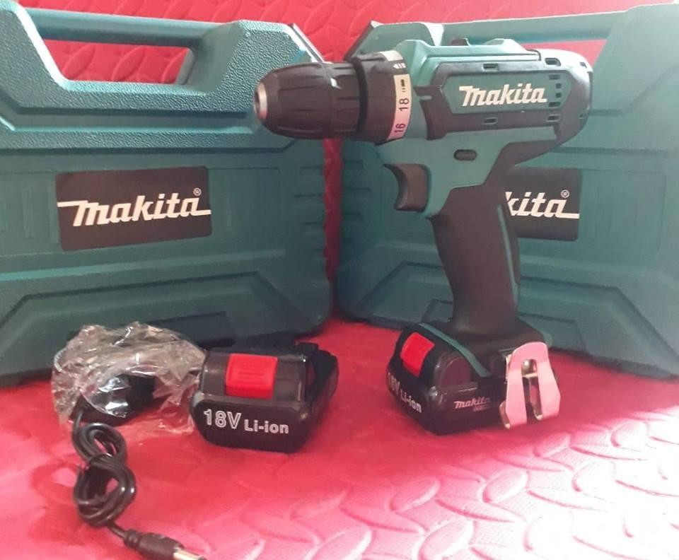 Máy khoan pin Makita 18V, bắn vít, khoan (hàng nhập khẩu thái lan)