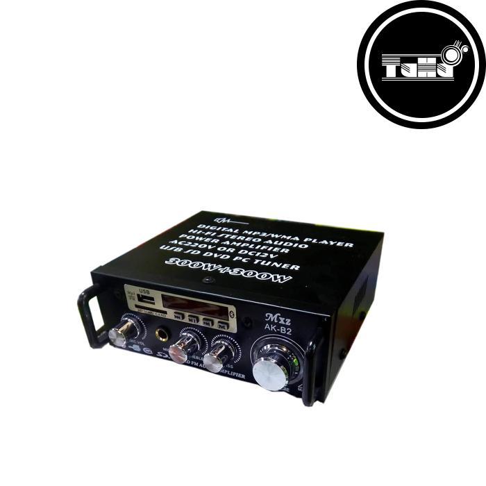 Bộ Âm Ly Khuếch Đại Âm Thanh HiFi-Bluetooth 220VAC/12VDC AK-B2 300W300W Nhật Bản