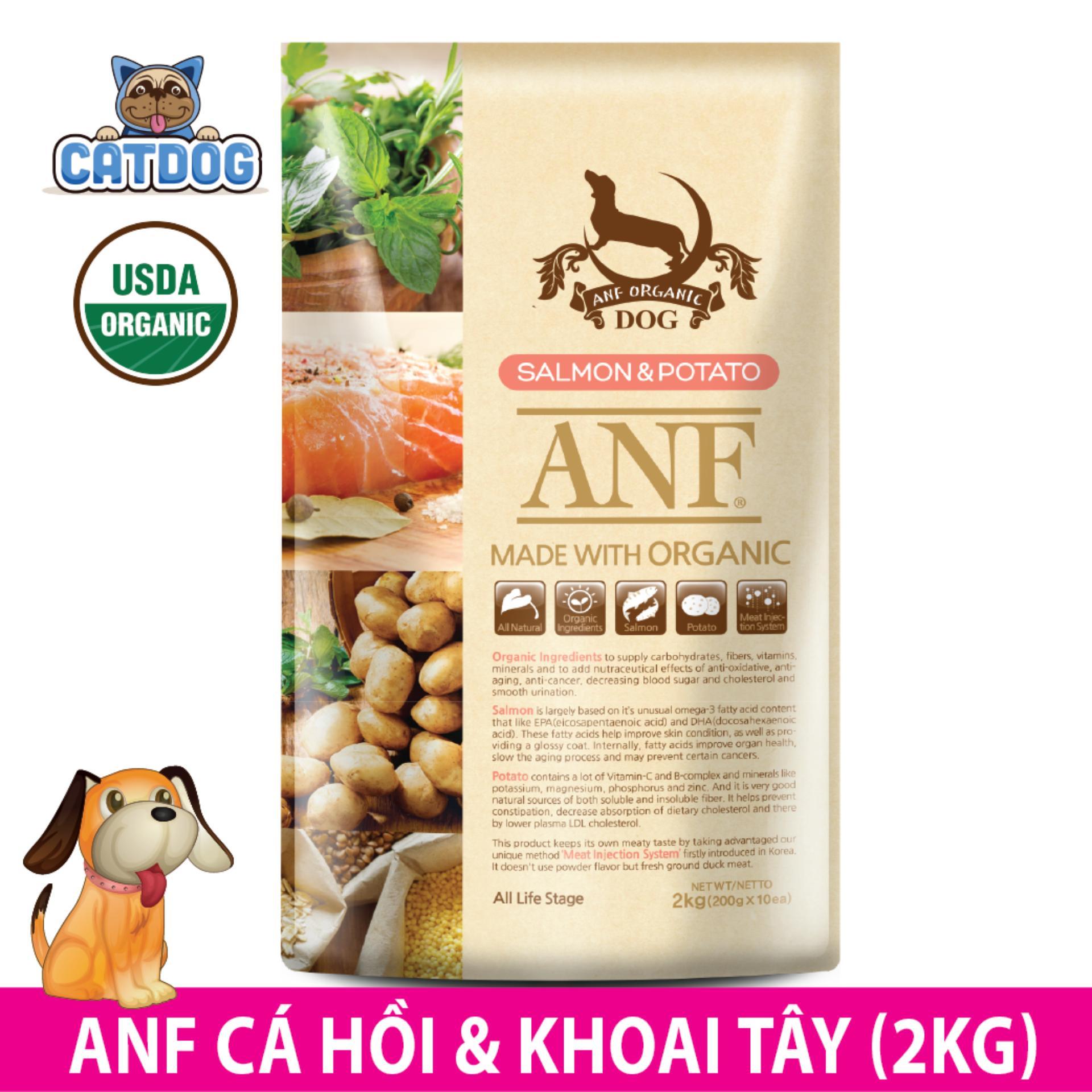 Bán Hạt Anf Made With Organic Vị Ca Hồi Va Khoai Tay 2Kg Cho
