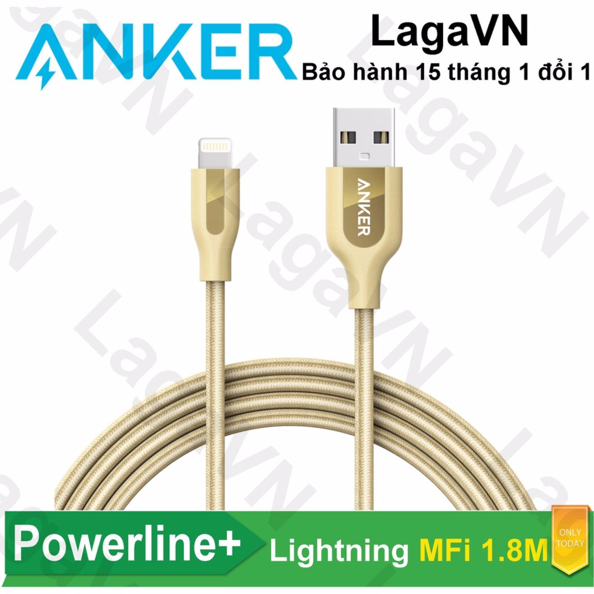 Bán Cap Sạc Nylon Anker Powerline Lightning Mfi Dai 1 8M Khong Tui Da Cho Iphone Ipad Ipod A8122 Hang Phan Phối Chinh Thức Nguyên
