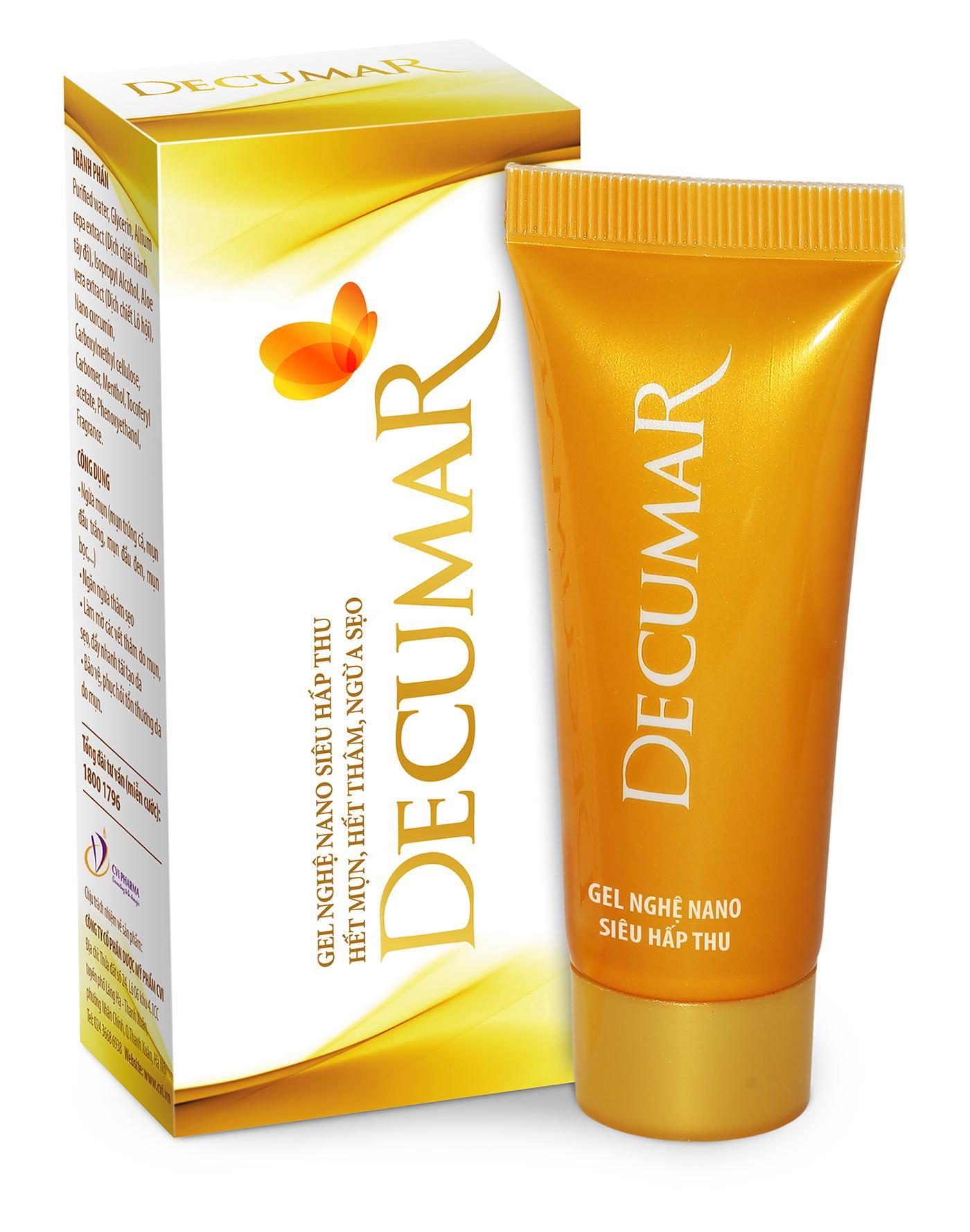 Hình ảnh Kem nghệ nano Decumar 20g trị mụn viêm, ngừa thâm sẹo