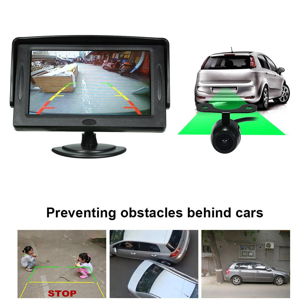 43 Inch Tft Color Display Sun Visor Car Lcd Monitor Dashboard Wireless Pillow Wiring Diagram Gii Thiu Screen Parking Stand Type With Rearview Camera