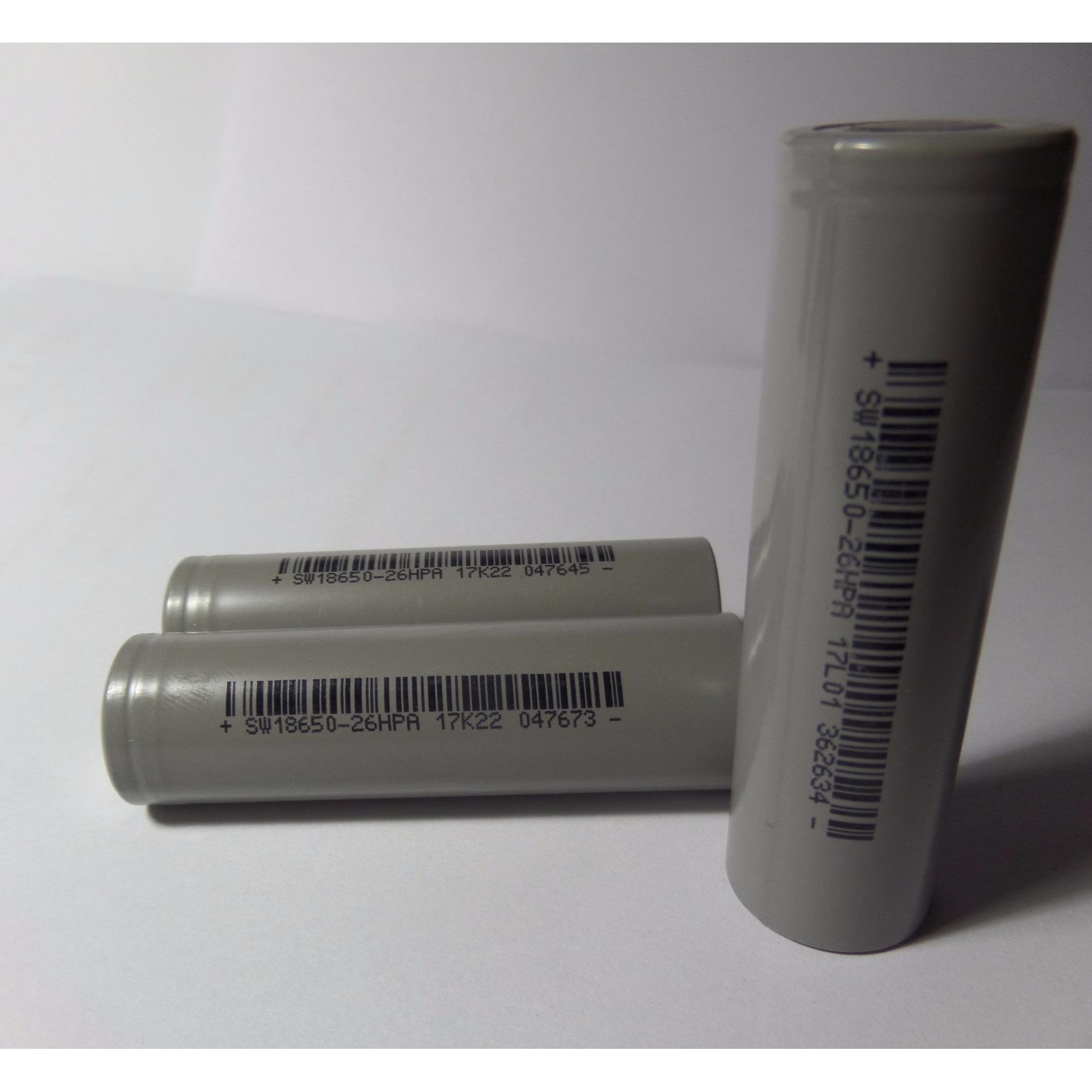 COMBO 3 Cell Pin Sinowatt (Xám) - SW18650 - dung lượng 2500mAh - dòng xả 10A