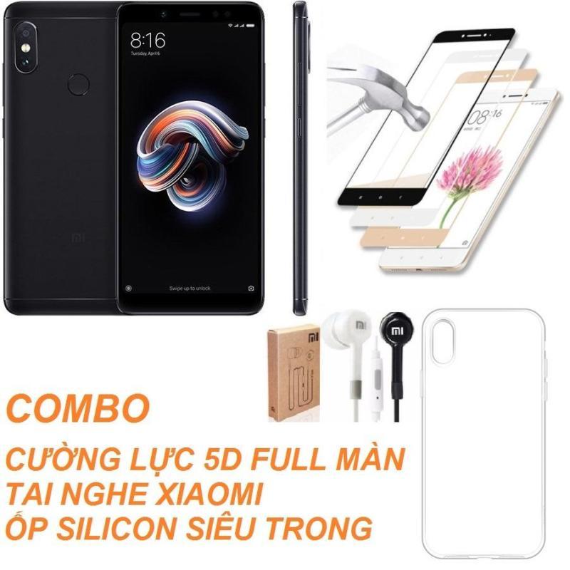 Xiaomi Redmi Note 5 Pro 64GB Ram 4GB (Đen) + Cường lực 5D Full màn + Ốp lưng + Tai nghe - Hàng nhập khẩu