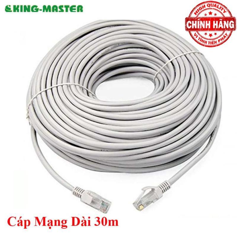 Bảng giá Dây cáp mạng LAN Internet bấm sẵn KingMaster dài 30m chuẩn cat 5e Phong Vũ