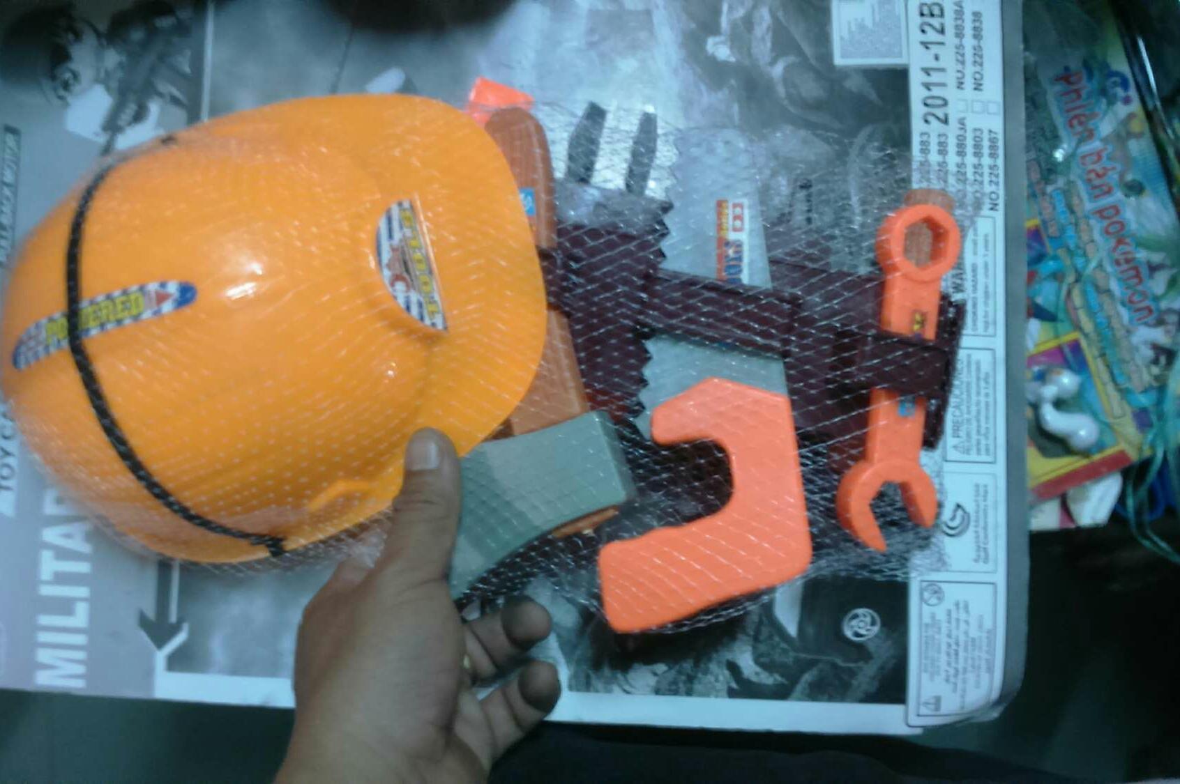 Hình ảnh Đồ chơi dụng cụ xây dựng bằng nhựa