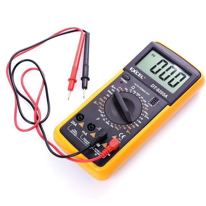 Đồng hồ đo vạn năng Digital Multimeter Excel DT9205A (Đen phối vàng)