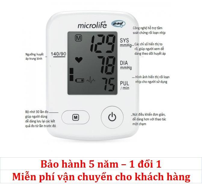 Hình ảnh Máy đo huyết áp bắp tay Microlife A2 Classic ( Trắng )