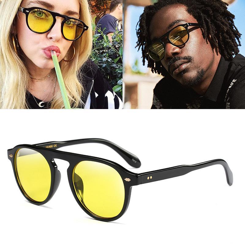 66246b160af JackJad New New Fashion Vintage Round Style Tint Ocean Lens Sunglasses Men  Women Brand Design Sun