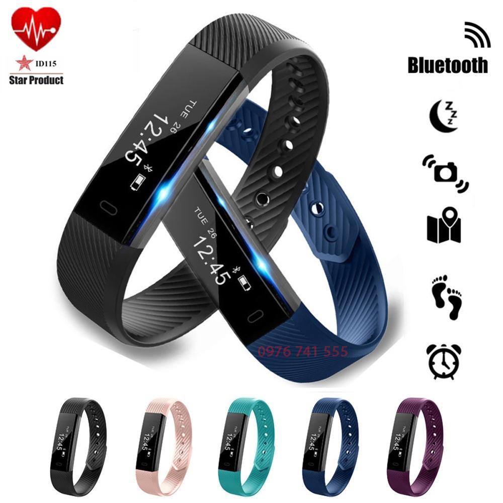 Hình ảnh Vòng đeo tay thông minh theo dõi sức khỏe VeryFit Model ID115 (Đen)