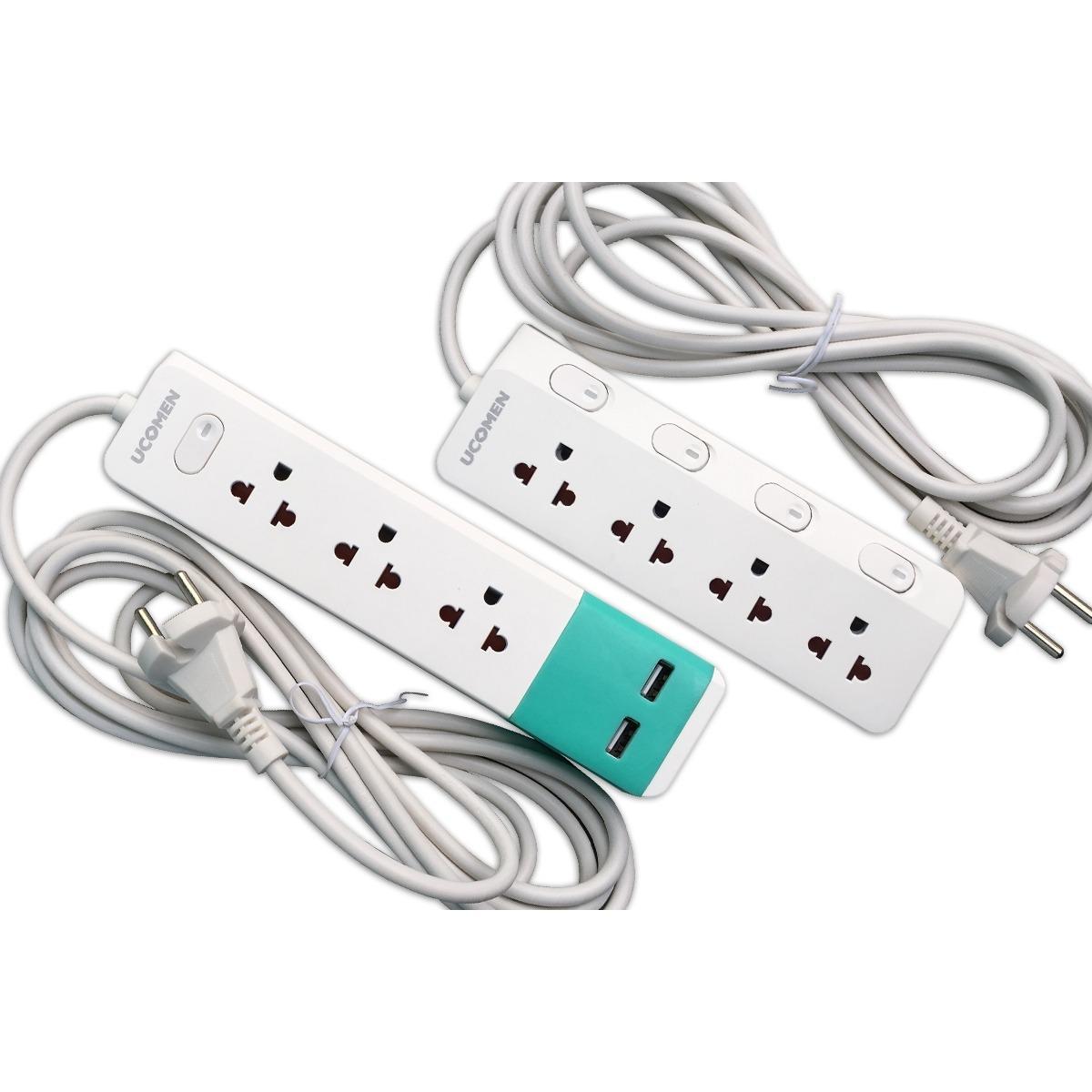Combo 02 ổ cắm điện an toàn - 04 công tắc độc lập và sạc USB - Cao cấp từ Singapore