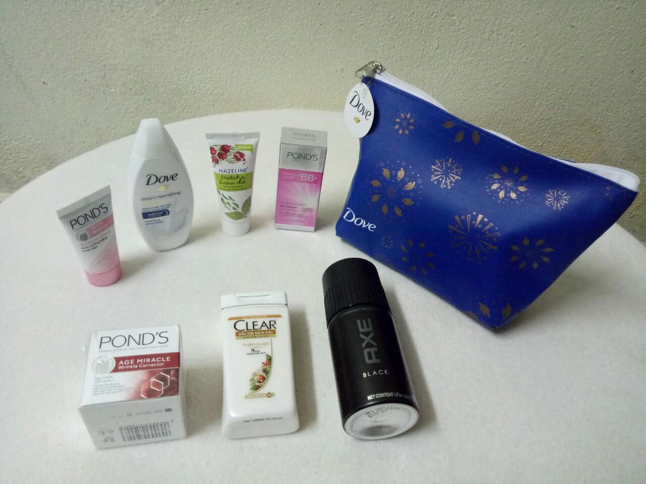 Hình ảnh Trọn bộ 7 món : mỹ phẩm dành cho nam & nữ (như hình)+ kèm theo túi mỹ phẩm xinh xắn