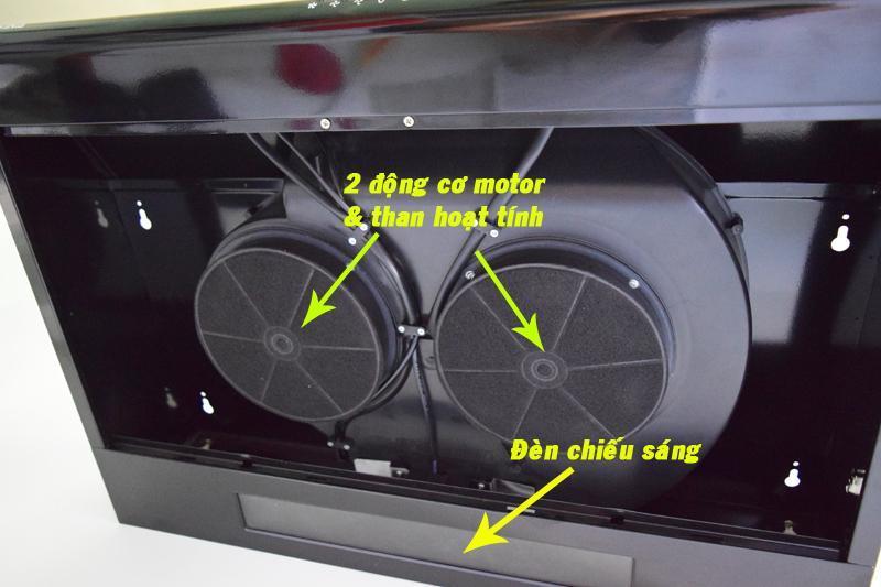 Hình ảnh Cặp hộp than hoạt tính sử dụng cho máy hút khói khử mùi CIVINA CV-700