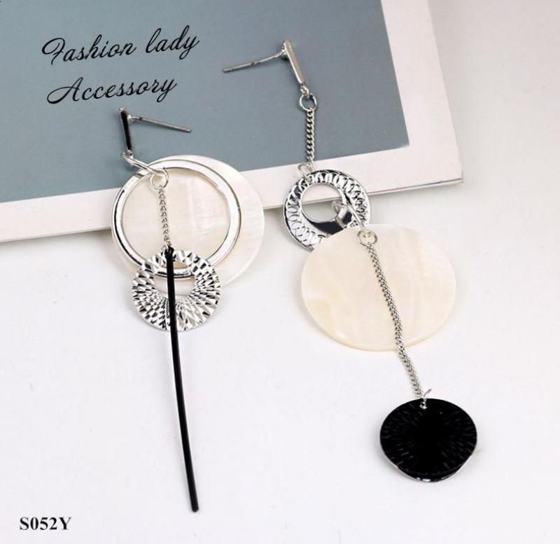 Bông tai bạc style Hàn Quốc thời trang dịu dàng dễ phối quyến rũ không gây dị ứng- hoa tai thả dài thời trang - vàng