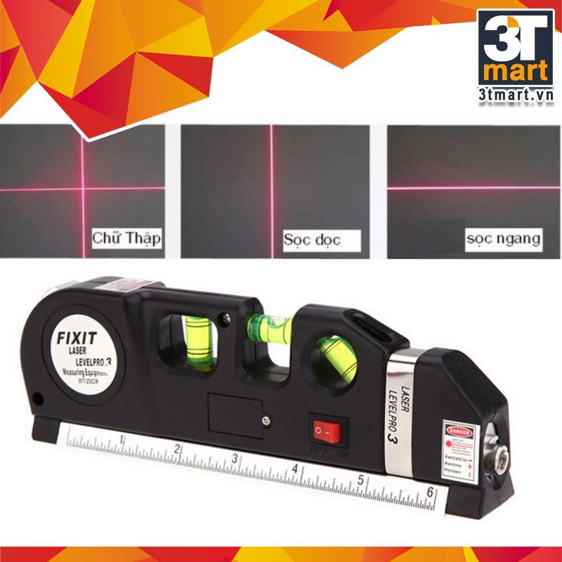 Hình ảnh Thước ni vô laser đa năng cân bằng kèm thước kéo 2,5m